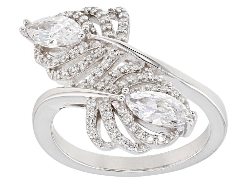 Photo of Bella Luce ® 2.18CTW White Diamond Simulant Rhodium Over Sterling Silver (1.28CTW DEW) - Size 7