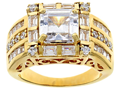 Photo of Bella Luce ® 7.16CTW White Diamond Simulant Eterno ™ Yellow Gold Over Silver Ring (4.73CTW DEW) - Size 5