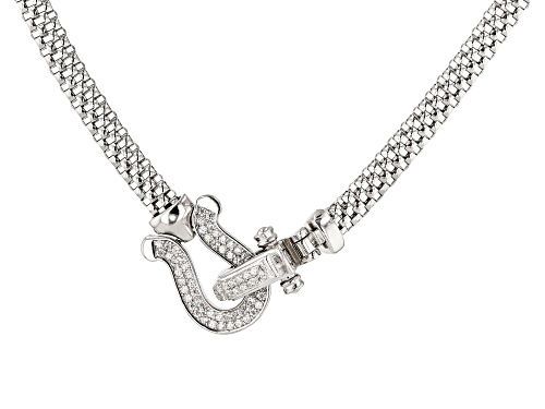 Photo of Bella Luce ® 0.64CTW White Diamond Simulant Rhodium Over Sterling Silver Necklace - Size 18