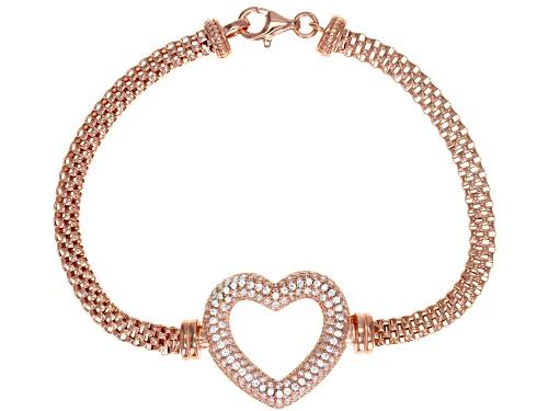 Photo of Bella Luce ® 2.10CTW White Diamond Simulant Eterno ™ Rose Heart Bracelet - Size 8