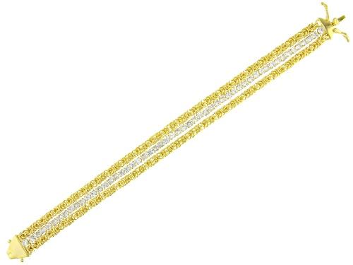 Bella Luce ® 9.41CTW White Diamond Simulant Eterno ™ Yellow Bracelet (6.05CTW DEW) - Size 8