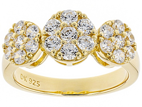 Photo of Bella Luce ® 2.18CTW White Diamond Simulant Eterno ™ 18K Yellow Gold Over Silver Ring (0.84CTW DEW) - Size 7