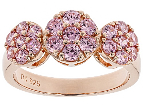 Photo of Bella Luce ® Pink Diamond Simulant Eterno ™ Rose Gold Over Sterling Silver Ring (0.84CTW DEW) - Size 8