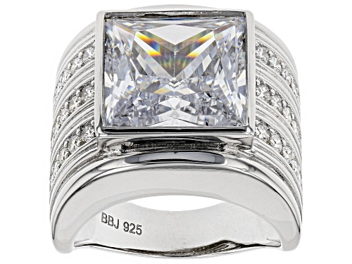 Photo of Bella Luce ® 16.29CTW White Diamond Simulant Rhodium Over Sterling Silver Ring (10.42CTW DEW) - Size 6