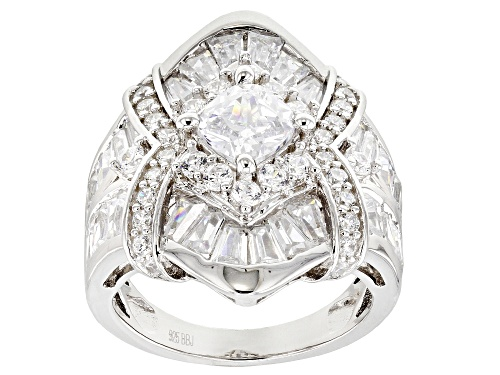 Photo of Bella Luce ® 7.76CTW White Diamond Simulant Rhodium Over Sterling Silver Ring (4.44CTW DEW) - Size 8