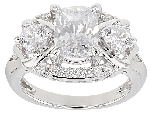Photo of Bella Luce ® 4.84CTW White Diamond Simulant Rhodium Over Sterling Silver Ring (3.18CTW DEW) - Size 7