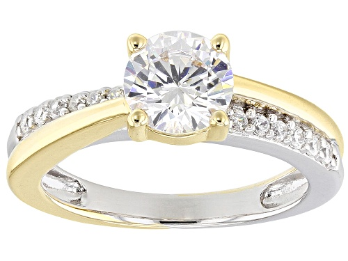 Photo of Bella Luce ® 2.37CTW White Diamond Simulant Eterno ™ Yellow & Rhodium Over Silver Ring - Size 11