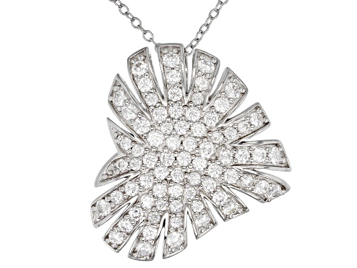 Photo of Bella Luce ® 2.79CTW White Diamond Simulant Rhodium Over Silver Heart Pendant With Chain