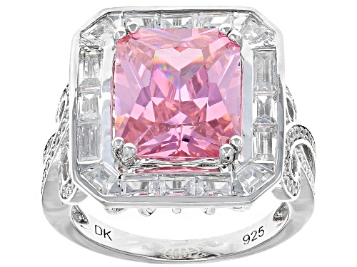 Photo of Bella Luce ® 12.30CTW Pink And White Diamond Simulants Rhodium Over Silver Ring (7.93CTW DEW) - Size 7