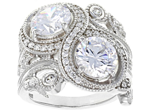 Photo of Bella Luce ® 7.82CTW White Diamond Simulant Rhodium Over Sterling Silver Ring (4.49CTW DEW) - Size 7