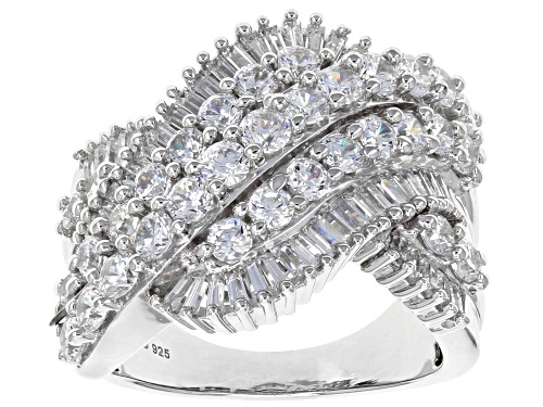 Photo of Bella Luce ® 5.72CTW White Diamond Simulant Rhodium Over Sterling Silver Ring (3.02CTW DEW) - Size 7