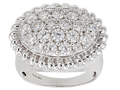 Photo of Bella Luce ® 4.30CTW White Diamond Simulant Rhodium Over Sterling Silver Ring (2.32CTW DEW) - Size 6