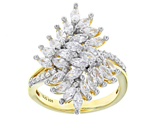 Photo of Bella Luce ® 3.38CTW White Diamond Simulant Eterno ™ Yellow Gold Over Sterling Silver Ring - Size 5