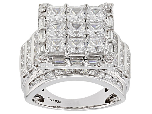 Photo of Bella Luce ® 6.60CTW White Diamond Simulant Rhodium Over Sterling Silver Ring (5.40CTW DEW) - Size 10