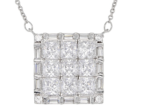 Photo of Bella Luce ® 6.12CTW White Diamond Simulant Rhodium Over Sterling Silver Necklace (3.57CTW DEW) - Size 18