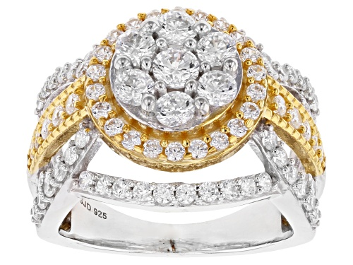Photo of Bella Luce ® 3.88CTW White Diamond Simulant Eterno ™ Yellow Gold And Rhodium Over Silver Ring - Size 9