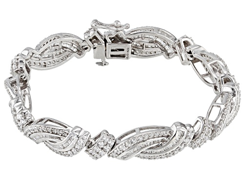Photo of Bella Luce ® 10.22CTW White Diamond Simulant Rhodium Over Sterling Silver Bracelet (6.51CTW DEW) - Size 8