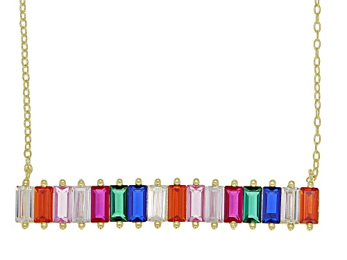 Photo of Bella Luce ® 6.19CTW Multicolor Gemstone Simulants Eterno ™ Yellow Over Sterling Silver Necklace - Size 18