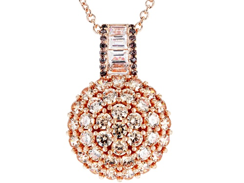 Photo of Bella Luce ® 4.91CTW Champagne, Mocha, And White Diamond Simulants Eterno ™ Rose Pendant With Chain