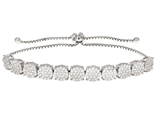 Photo of Bella Luce ® 3.14ctw Rhodium Over Sterling Silver Adjustable Bracelet (1.40ctw DEW)