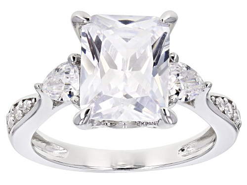 Photo of Bella Luce® 7.37ctw Rhodium Over Sterling Silver Ring (4.34ctw DEW) - Size 8