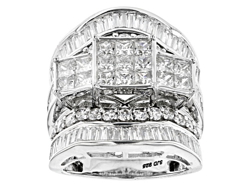 Photo of Bella Luce ® 6.80ctw Rhodium Over Sterling Silver Ring (5.78ctw DEW) - Size 10