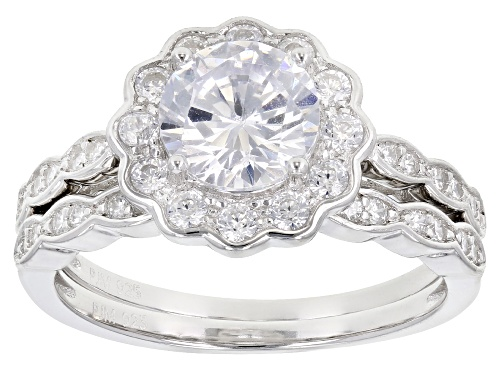 Photo of Bella Luce® 3.27ctw Rhodium Over Sterling Silver Ring With Band (1.70ctw DEW) - Size 8