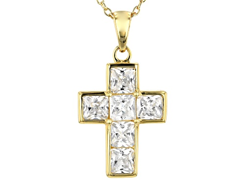 Photo of Bella Luce® 3.24ctw Eterno™ Yellow Cross Pendant With Chain (1.64ctw DEW)