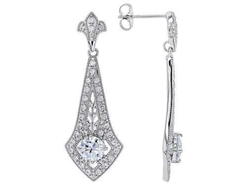 Photo of Bella Luce ® 2.29ctw Rhodium Over Sterling Silver Earrings (1.44ctw DEW)