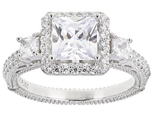 Photo of Bella Luce ® 3.14ctw Rhodium Over Sterling Silver Ring (2.37ctw DEW) - Size 8