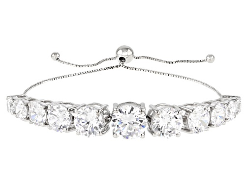 Photo of Bella Luce ® 30.39ctw Rhodium Over Sterling Silver Adjustable Bracelet (18.61ctw DEW)