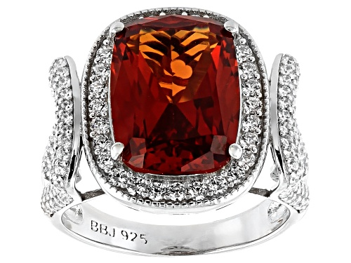 Photo of Bella Luce ® 10.08ctw Multicolor Gem Simulants Rhodium Over Sterling Silver Ring - Size 7