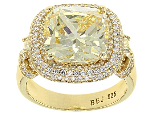 Photo of Bella Luce ® 11.47ctw Canary and White Diamond Simulant Eterno ™ Yellow Ring (5.83ctw DEW) - Size 10