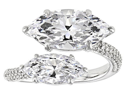 Photo of Bella Luce ® 9.56ctw Rhodium Over Sterling Silver Ring (4.11ctw DEW) - Size 7