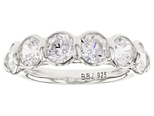 Bella Luce ® 5.10ctw Rhodium Over Sterling Silver Ring (2.76ctw DEW) - Size 7