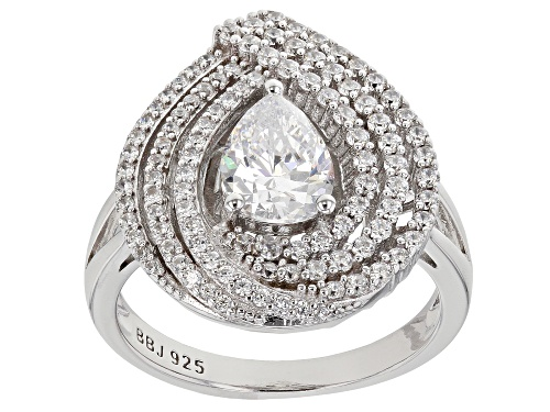 Photo of Bella Luce ® 2.91ctw Rhodium Over Sterling Silver Ring (1.99ctw) - Size 8