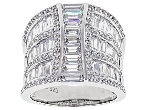 Photo of Bella Luce ® 6.32ctw Rhodium Over Sterling Silver Ring (4.37ctw DEW) - Size 5