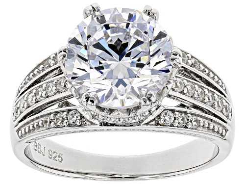 Photo of Bella Luce ® 6.00ctw Rhodium Over Sterling Silver Ring (3.59ctw DEW) - Size 10
