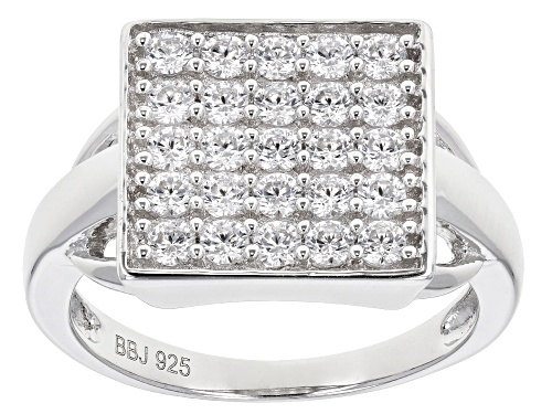 Photo of Bella Luce ® 1.39ctw Rhodium Over Sterling Silver Ring (0.75ctw DEW) - Size 7