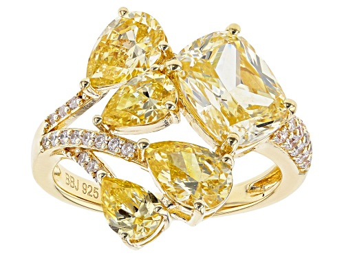 Photo of Bella Luce ® 7.78ctw Canary and White Diamond Simulants Eterno ™ Yellow Ring (4.44ctw DEW) - Size 7