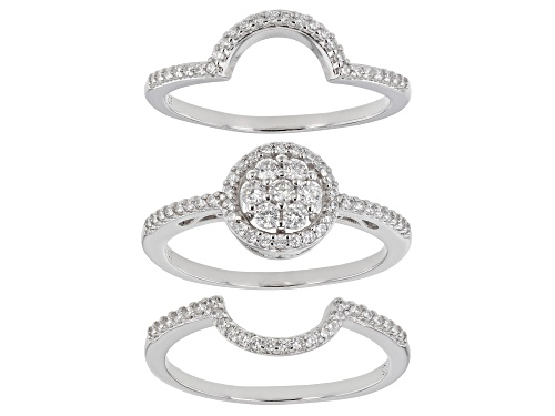 Photo of Bella Luce ® 1.21ctw Platinum Over Sterling Silver Ring With Bands (0.66ctw DEW) - Size 10