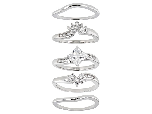 Photo of Bella Luce ® 2.94ctw Platinum Over Sterling Silver Ring With 4 Bands (1.86ctw DEW) - Size 8
