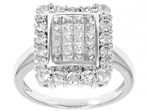 Photo of Bella Luce ® 2.54ctw Platinum Over Sterling Silver Ring (1.40ctw DEW) - Size 12