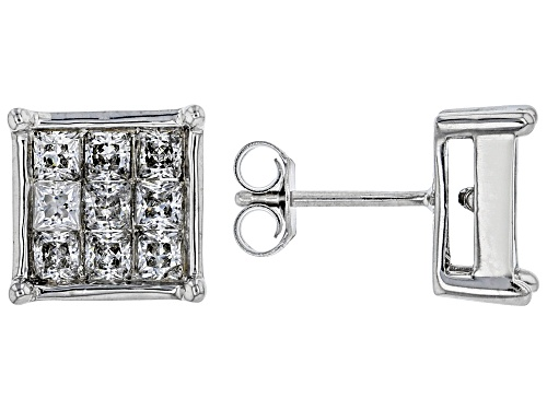 Photo of Bella Luce ® 2.73ctw Rhodium Over Sterling Silver Stud Earrings (1.80ctw DEW)