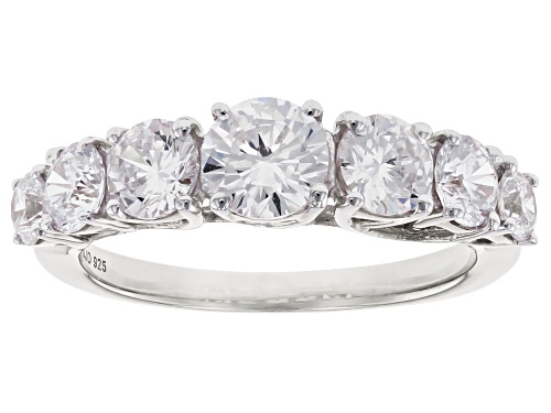 Photo of Bella Luce ® 3.85ctw White Diamond Simulant Rhodium Over Sterling Silver Ring (2.16ctw DEW) - Size 10