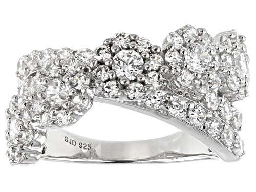 Photo of Bella Luce ® 4.31ctw Rhodium Over Sterling Silver Ring (2.33ctw DEW) - Size 7