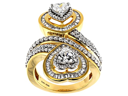Photo of Bella Luce ® 3.81ctw White Diamond Simulant Eterno™ Yellow Heart Ring (1.28ctw DEW) - Size 9