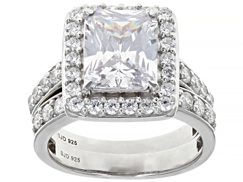 Photo of Bella Luce ® 9.25ctw Rhodium Over Sterling Silver Ring with Band (4.59ctw DEW) - Size 8