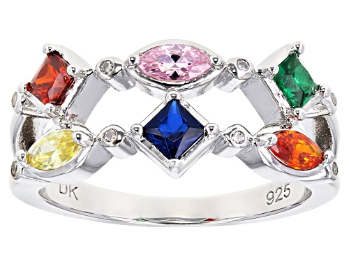 Photo of Bella Luce ® 1.26ctw Multicolor Sapphire and White Diamond Simulants Ring - Size 6