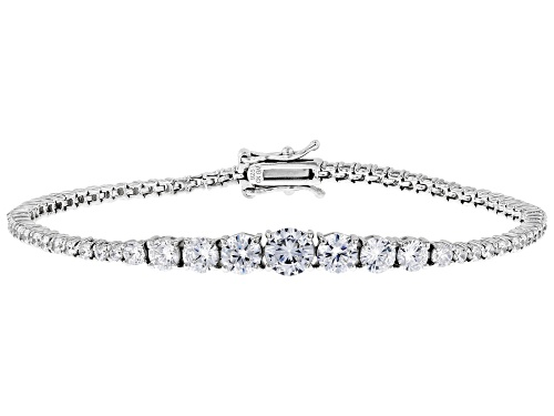 Photo of Bella Luce ® 9.21ctw White Diamond Simulant Rhodium Over Silver Tennis Bracelet (5.06ctw DEW) - Size 8